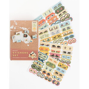Miss Wood Sticker Set Animals of the World