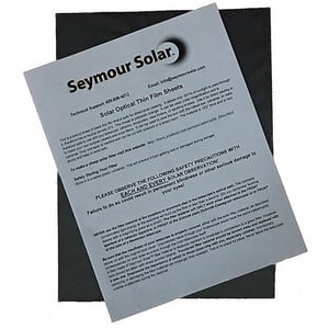 Seymour Solar Helios Solar Film Sheets OD5 229 x 305 mm