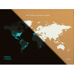 Miss Wood Mappa del Mondo Woody Map Fluor XL