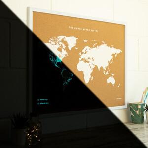 Miss Wood Weltkarte Woody Map Fluor XL