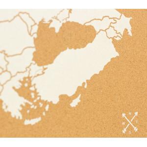 Miss Wood Kontinent-Karte Woody Map Europa weiß 90x60cm