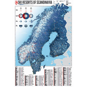 Marmota Maps Mappa Regionale Ski Resorts of Scandinavia