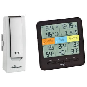 TFA WeatherHub Starter-Set with wireless thermo and hygro meter
