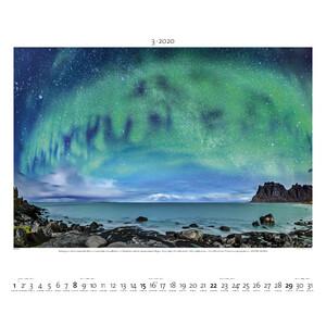 Palazzi Verlag Kalender Polarlicht 2020