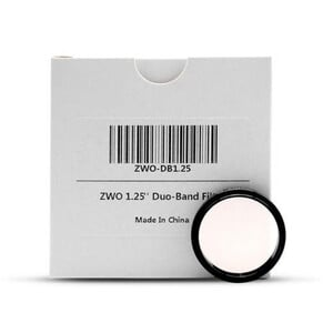 """Filtre ZWO Duo-Band 1,25"""""""
