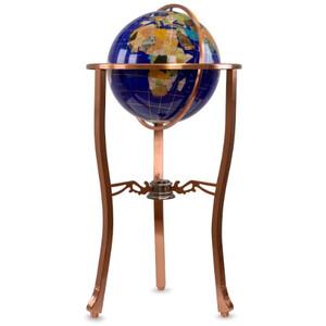 Pretty Decor Floor globe Montezuma 33cm blue