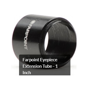 """Farpoint Prolunga Verlängerungshülse 1,25"""", optischer Weg 37,5mm"""