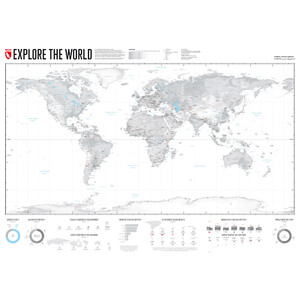 Marmota Maps Mappa del Mondo Explore the World 140x100cm