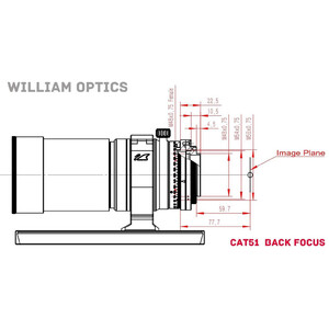 Réfracteur apochromatique William Optics AP 51/250 SpaceCat 51 OTA