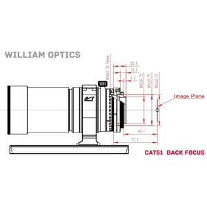 William Optics Apochromatischer Refraktor AP 51/250 RedCat 51 OTA