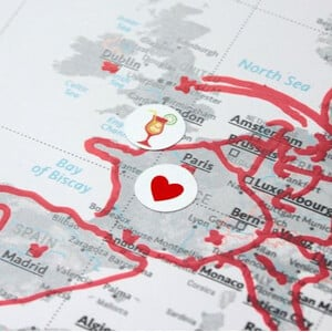 Marmota Maps Sticker für Weltkarten