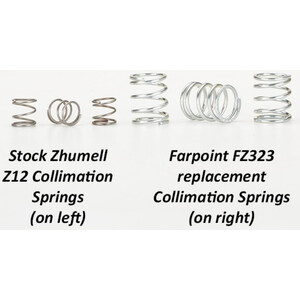 Farpoint Justier-Federn für Zhumell DOB Z12