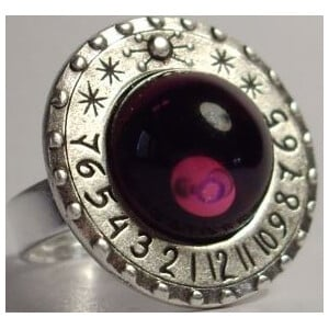 Ragalaxys Sundial Ring Saturno Amethyst