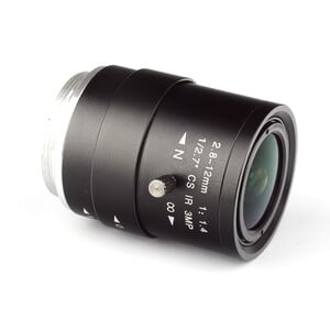 Omegon Lente con montura CS de 2,8-12 mm f/1,4