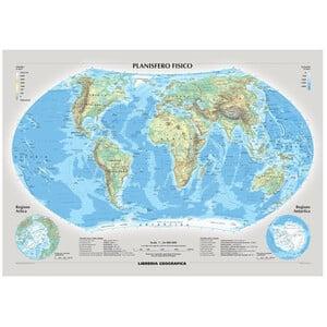 Libreria Geografica Mappa del Mondo Planisfero fisico e politico