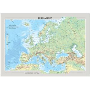 Libreria Geografica Mappa Continentale Europa fisica e politica