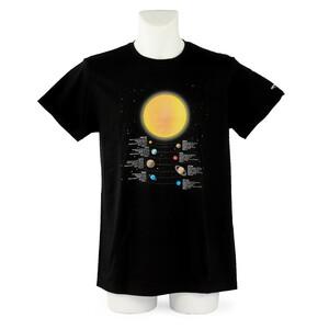 Omegon T-Shirt Camiseta de información sobre los planetas de en talla M