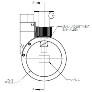 Optec Guida fuori asse Sagitta Off-Axis Guider manuell