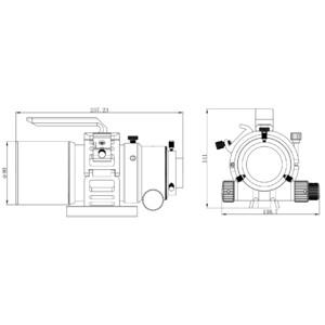 Omegon Refractor apocromático APO AP 61/335 ED OTA + informe de pruebas