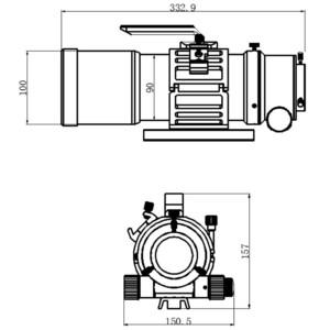 Omegon Refractor apocromático Pro APO AP 76/418 Triplet ED OTA + Test Report