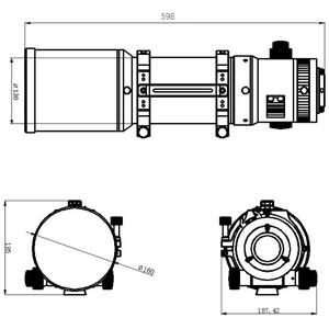 Omegon Refractor apocromático Pro APO AP 121/678 Quintuplet OTA + Test Report