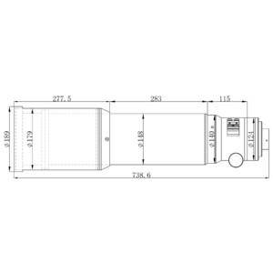 Omegon Refrator apocromático Pro APO AP 140/910 Triplet OTA