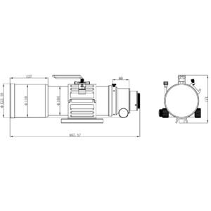 Omegon Refractor apocromático Pro APO AP 94/517 Triplet ED OTA