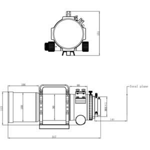 Lunette apochromatique Omegon Pro APO AP 72/400 Quintuplet OTA