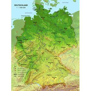 Land Karte Deutschland.Mbm Systems Landkarte Echt 3d Karte Deutschland