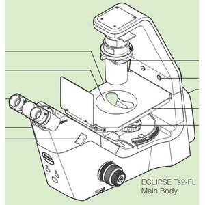 Nikon ECLIPSE Ts2-FL, LED, episcopic FL-LED, quintuple, r