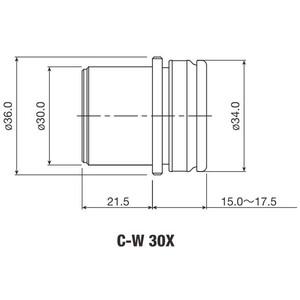 Oculaire Nikon Eye Piece C-W 30x/7 mm