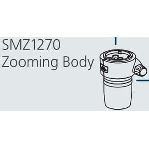 Nikon SMZ-1270 Stereo Zoom Head, bino, 6.3-80x, click stop, ratio 12.7:1, 64 mm, 20°, WD 70 mm