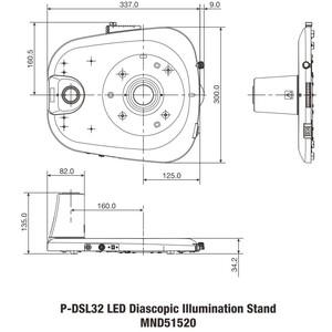 Nikon Colonna di sostegno P-DSL32 LED Plain Base for transmitted light with pillar