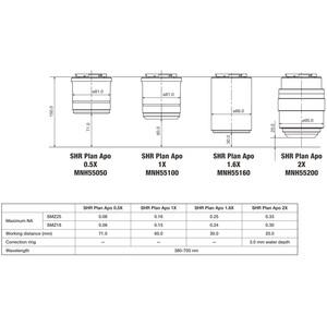 Nikon Obiettivo P2-SHR Plan Apo 1,6 x N.A. 0.24