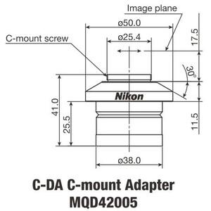 Nikon Adattore Fotocamera C-DA C-Mount Adapter 1x