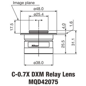 Nikon Adattore Fotocamera C-Mount TV Adapter 0,7 x