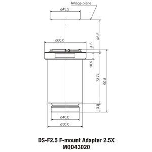 Nikon Adattore Fotocamera DS-F2.5 F-Mount Adapter 2.5x DS Serie