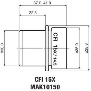 Oculaire Nikon CFI Eyepiece 15X/14.5