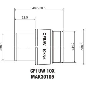 Nikon Oculare CFI Eyepiece UW 10X/25