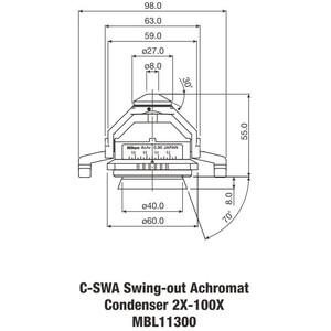 Nikon Achromat Swing-out Condenser 2-100x N.A. 0.90