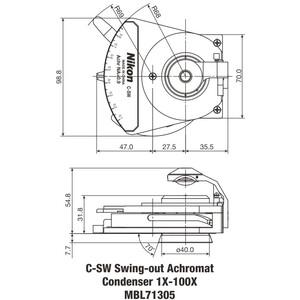 Nikon C-SW Achromat  Swing-out Condenser 1-100X