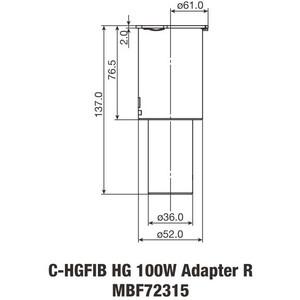 Nikon C-HGFIB HG 100W ADP Light Fiber Adapter