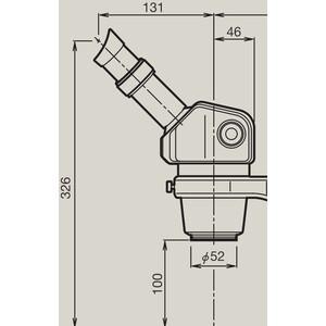 Nikon Microscopio stereo zoom SMZ445, bino, 0.8x-3.5x, 45°, FN21, W.D.100mm, Auf- u. Durchlicht, LED