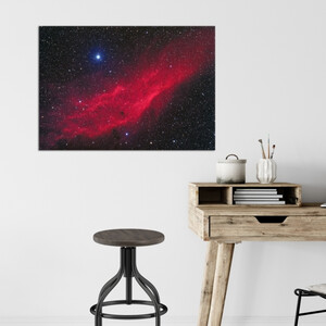 Oklop Leinwanddruck Kaliforniennebel NGC 1499 75cmx50cm