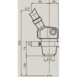Nikon Microscopio stereo zoom SMZ460, bino, 0.7x-3x, 60°, FN21, W.D.100mm, Einarmstativ