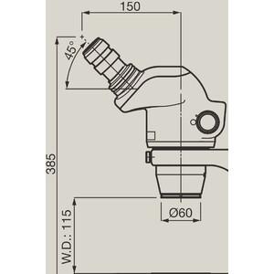 Nikon Microscopio stereo zoom SMZ745, bino, 0.67x-5x,45°, FN22, W.D.115mm, Auf- u. Durchlicht, LED