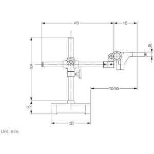 Nikon Microscopio stereo zoom SMZ745T, trino, 0.67x-5x,45°, FN22, W.D.115mm, Einarmstativ