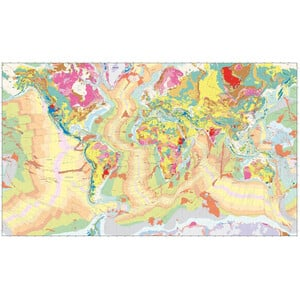 UKGE Weltkarte Geological Map of the World 118cm x 98cm