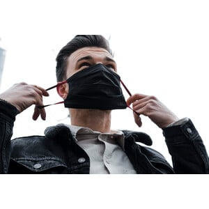 Masketo Face mask cotton black 5 pieces
