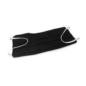 Masketo Mascherina naso/bocca nera in cotone 5 pezzi